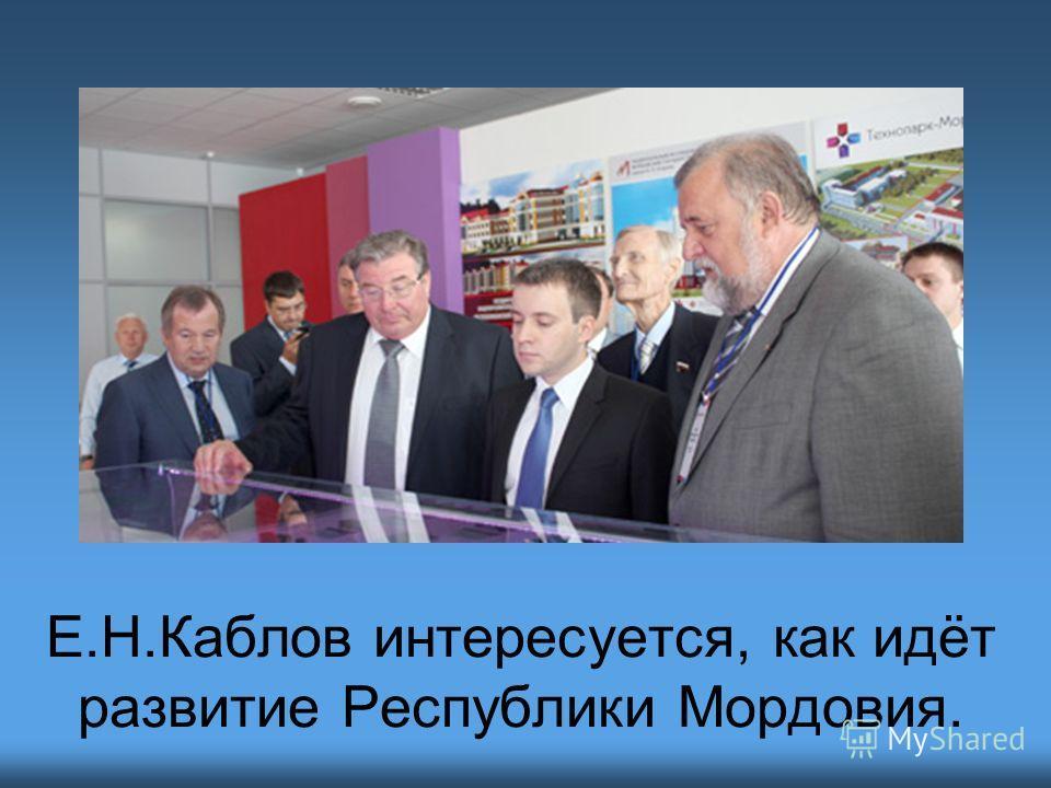 Е.Н.Каблов интересуется, как идёт развитие Республики Мордовия.