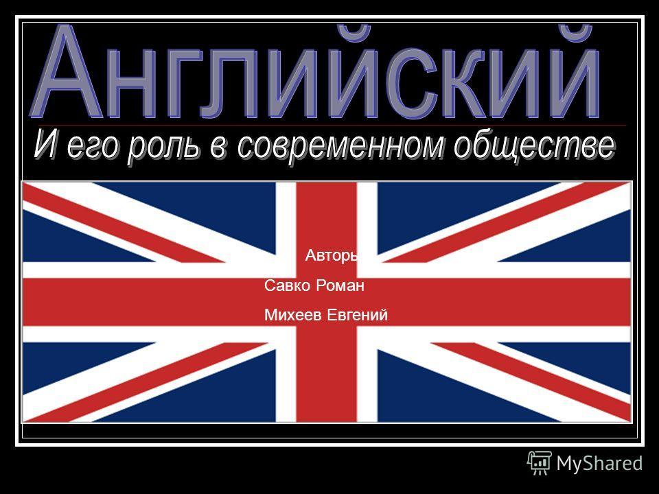 Авторы: Савко Роман Михеев Евгений