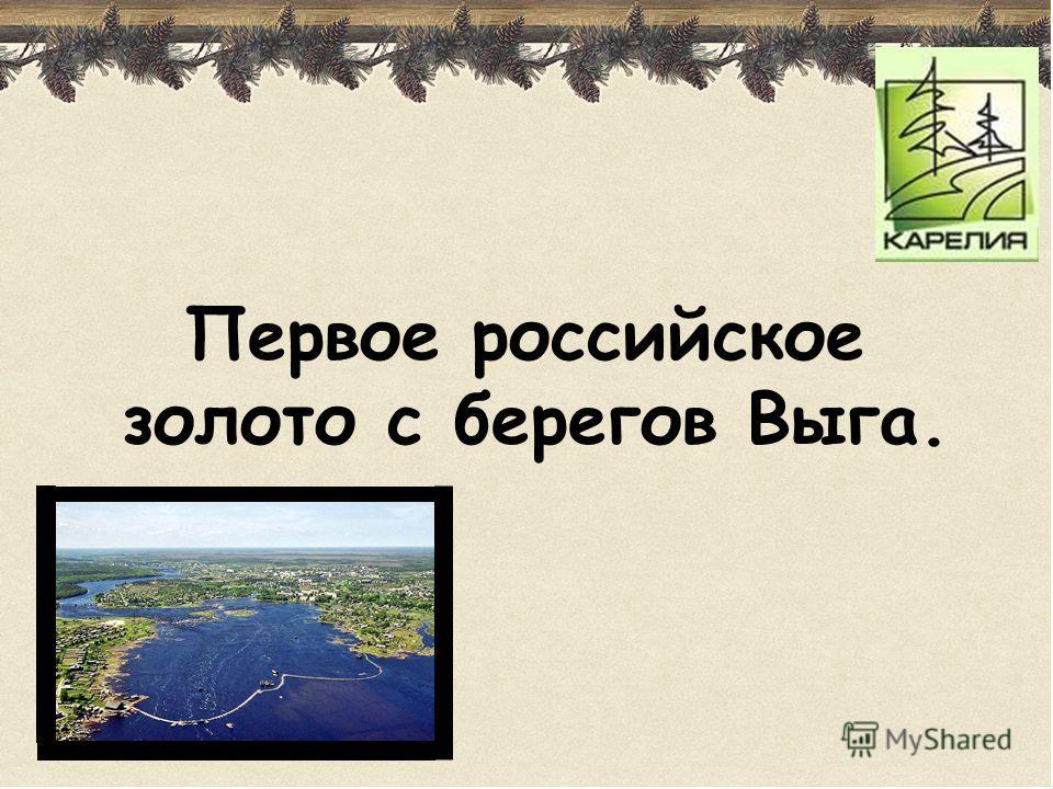 Первое российское золото с берегов Выга.