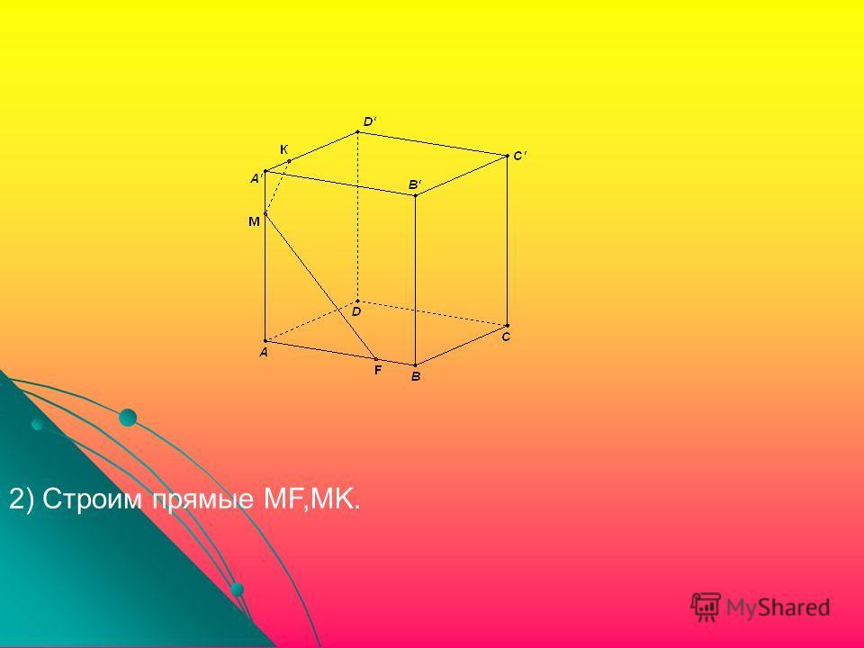 2) Строим прямые MF,MK.