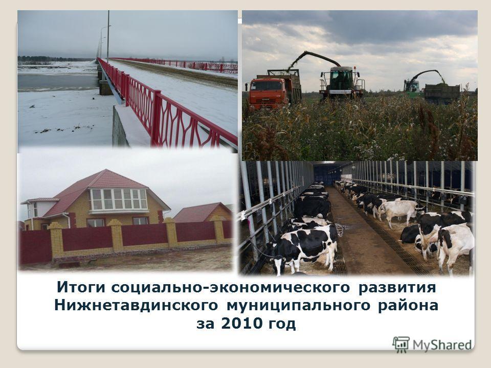 Итоги социально-экономического развития Нижнетавдинского муниципального района за 2010 год