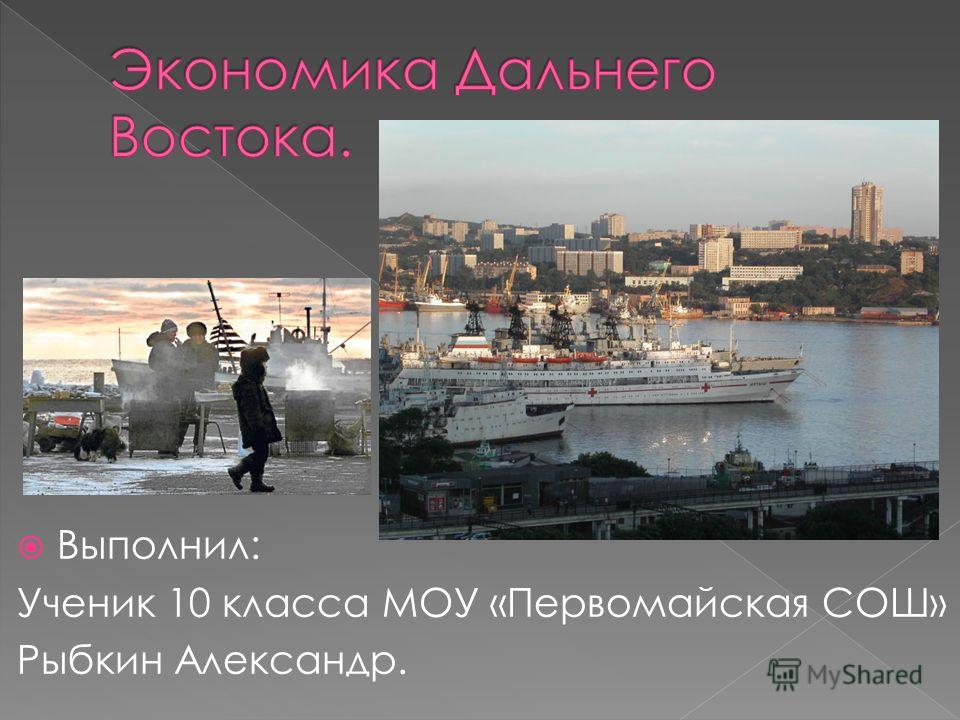 Выполнил: Ученик 10 класса МОУ «Первомайская СОШ» Рыбкин Александр.