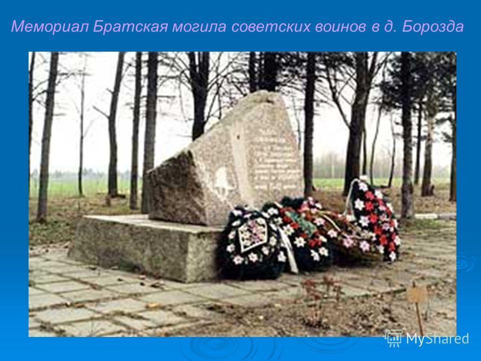 Мемориал Братская могила советских воинов в д. Борозда