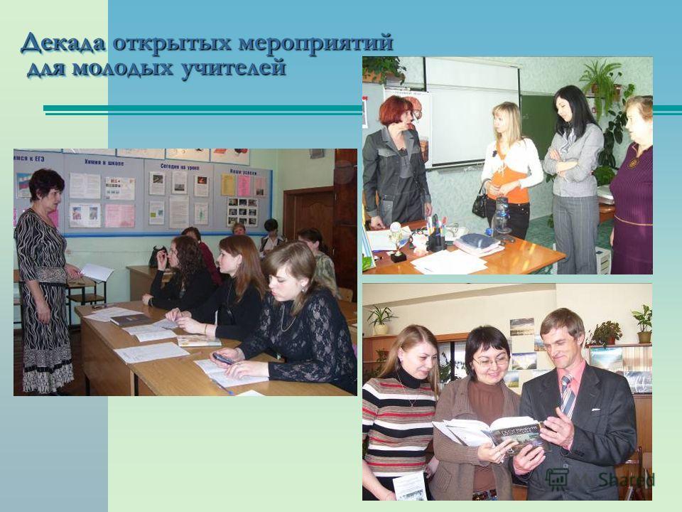 Декада открытых мероприятий для молодых учителей