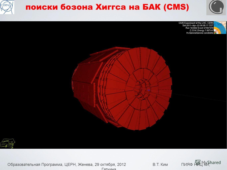 Образовательная Программа, ЦЕРН, Женева, 29 октября, 2012 В.Т. Ким ПИЯФ НИЦ КИ, Гатчина 25 поиски бозона Хиггса на БАК (CMS)