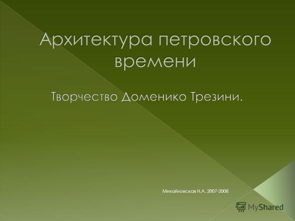 Михайловская Н.А. 2007-2008