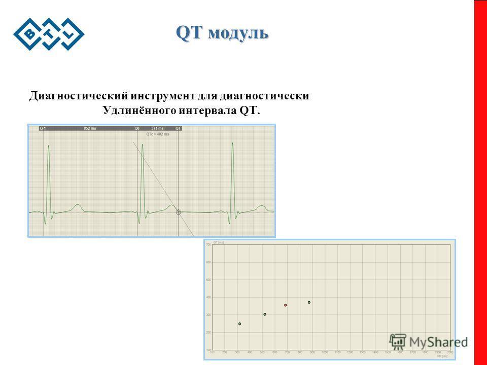 QT модуль Диагностический инструмент для диагностически Удлинённого интервала QT.