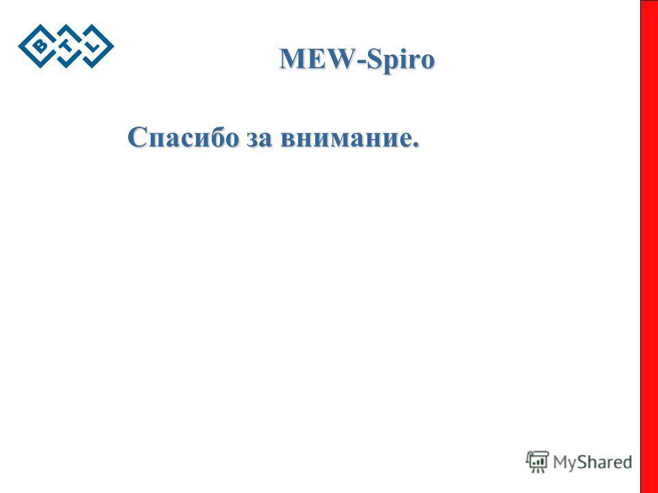 MEW-Spiro Спасибо за внимание.