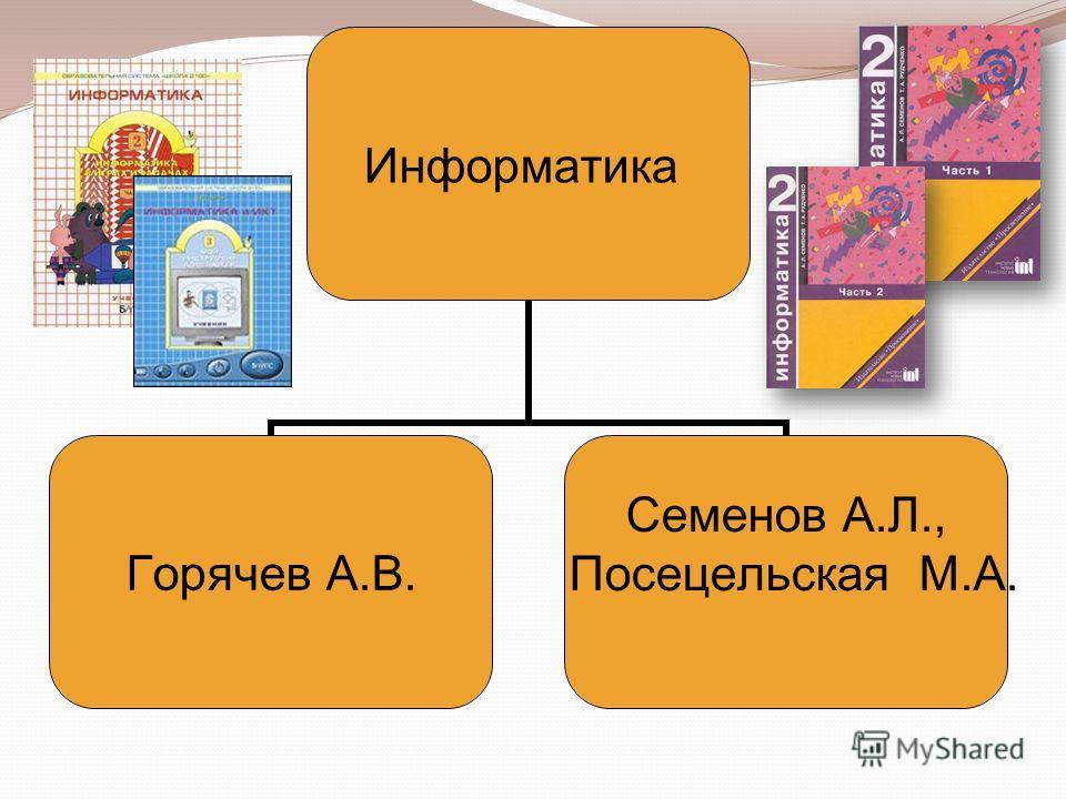 Информатика Горячев А.В. Семенов А.Л., Посецельская М.А.