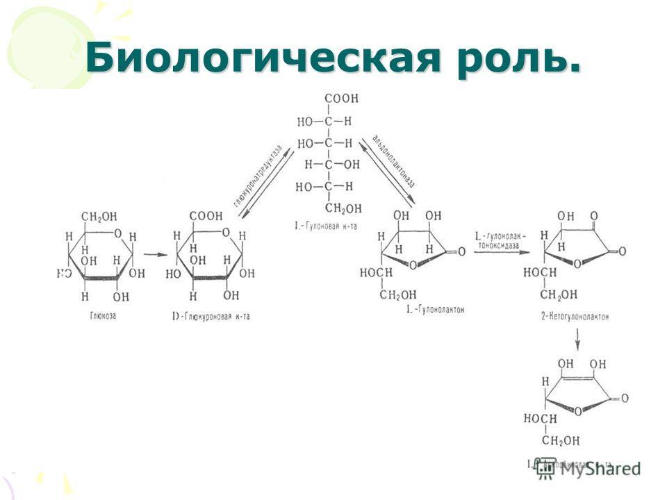 Биологическая роль.