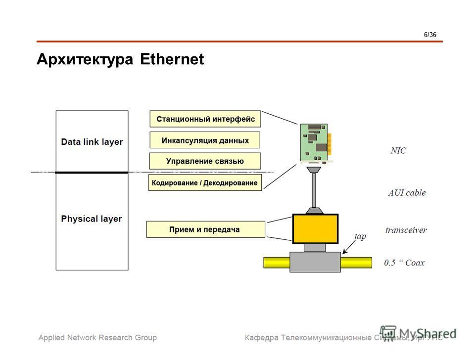 Архитектура Ethernet 6/36