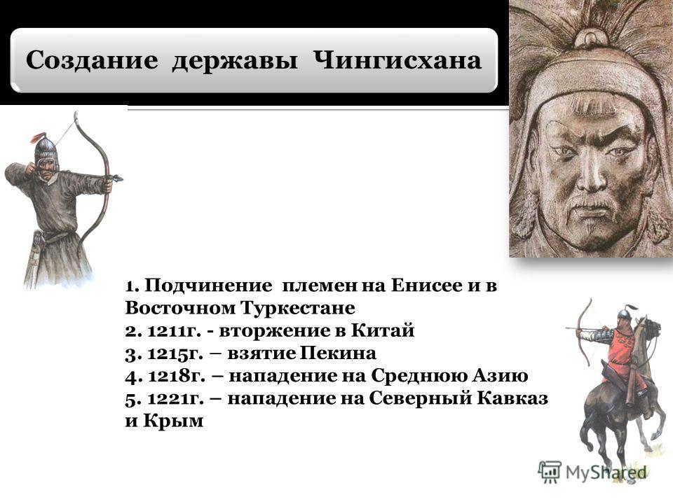 Создание державы Чингисхана
