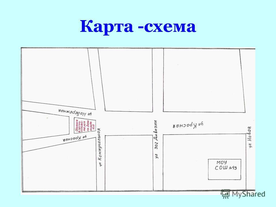 Карта -схема