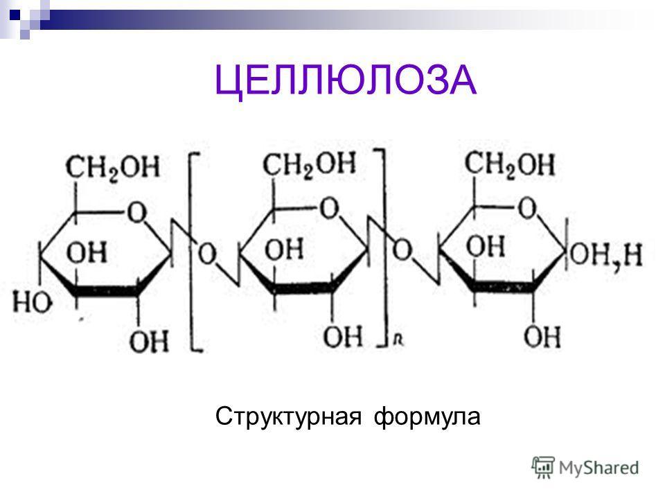 ЦЕЛЛЮЛОЗА Структурная формула