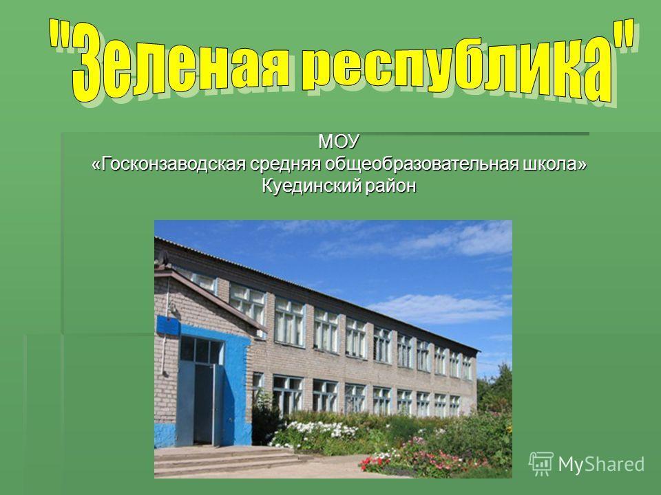 МОУ «Госконзаводская средняя общеобразовательная школа» Куединский район
