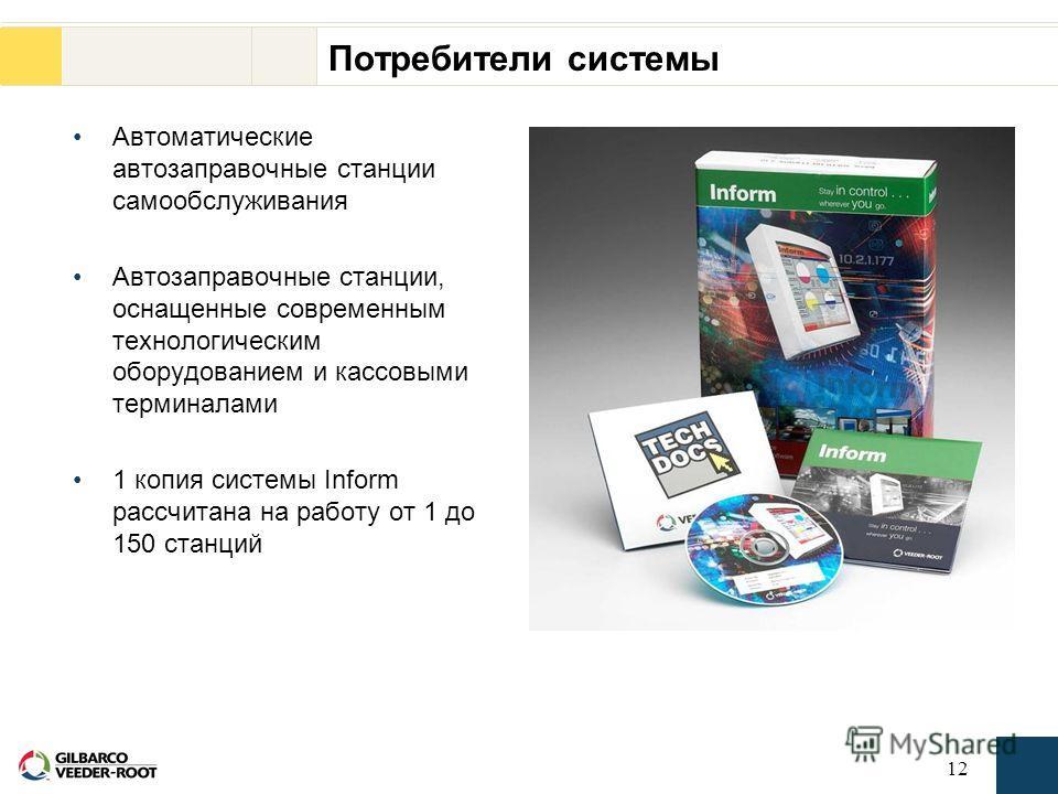 11 Технические требования IBM Компьютер: 486 DX, 66 МГц минимум, Pentium 100 либо последующие модели 16 Mb RAM Операционная система Windows 95/98 или NT 4.0 Жесткий диск 50 Mb CD-ROM 6x Дополнительный последовательный порт для прямого подключения кон