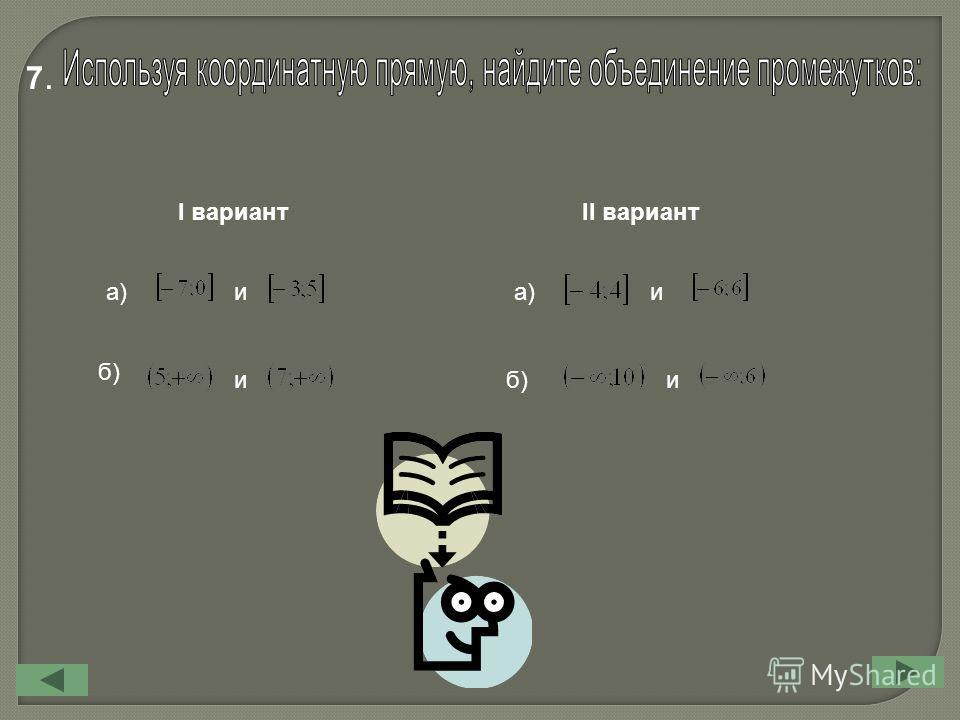 7.7. I вариант II вариант а) б) и и и и