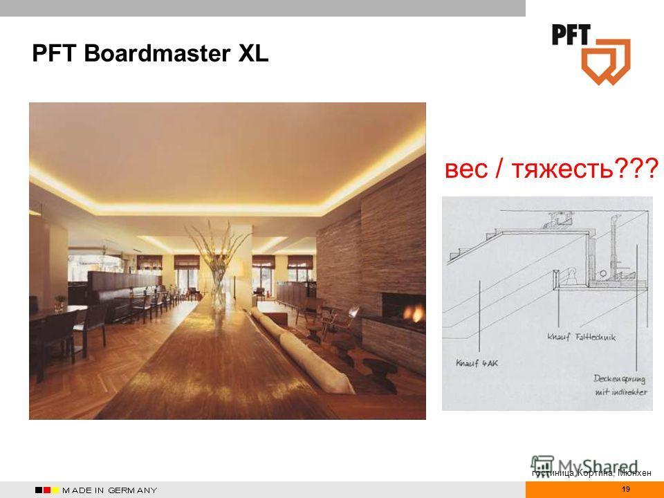 19 PFT Boardmaster XL гостиница Кортина, Мюнхен вес / тяжесть???