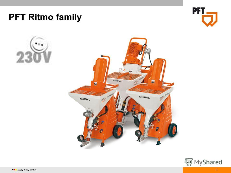 24 PFT Ritmo family MADE IN GERMANY