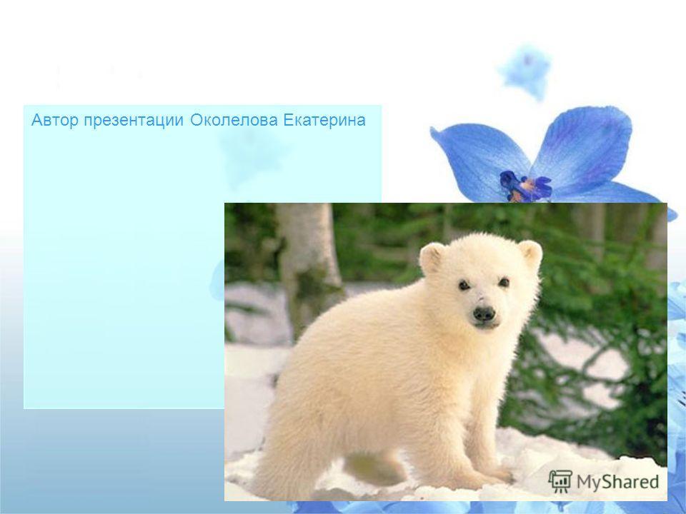 Автор презентации Околелова Екатерина