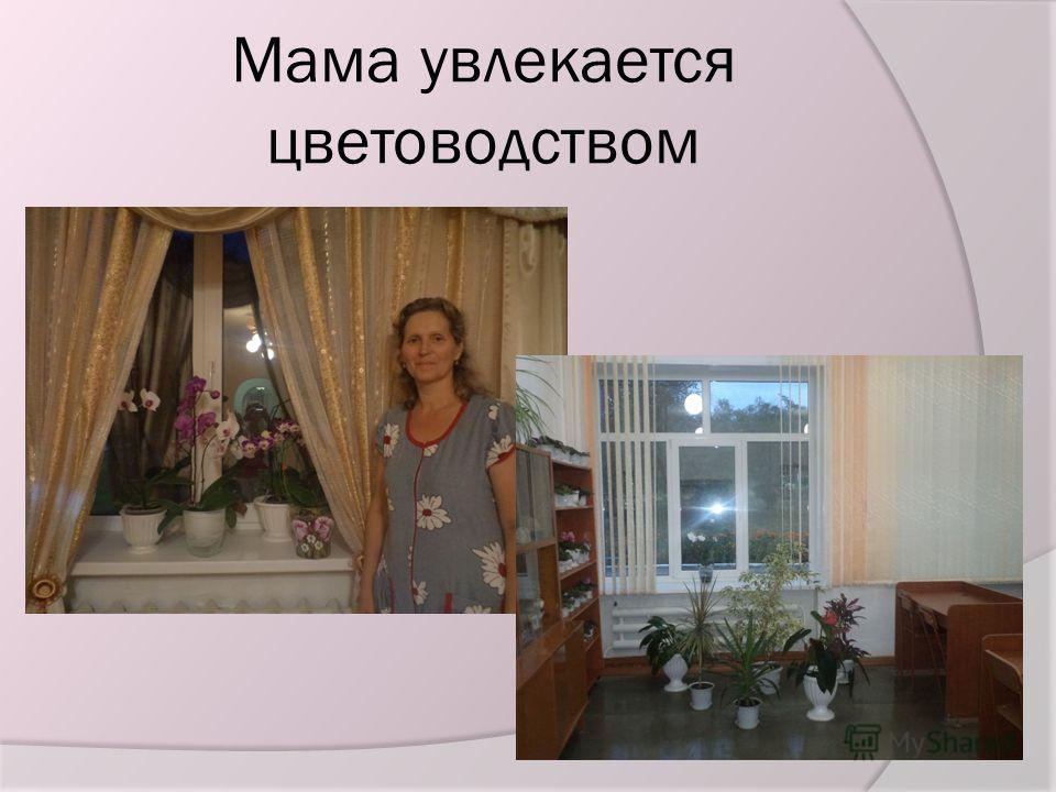 Мама увлекается цветоводством