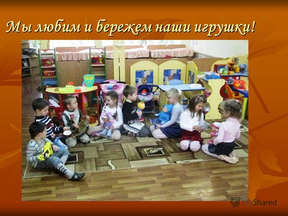 Мы любим и бережем наши игрушки!