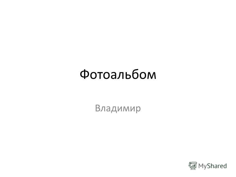 Фотоальбом Владимир