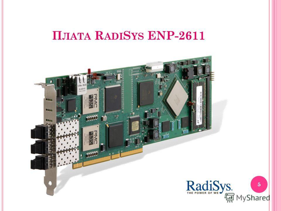 П ЛАТА R ADI S YS ENP-2611 5