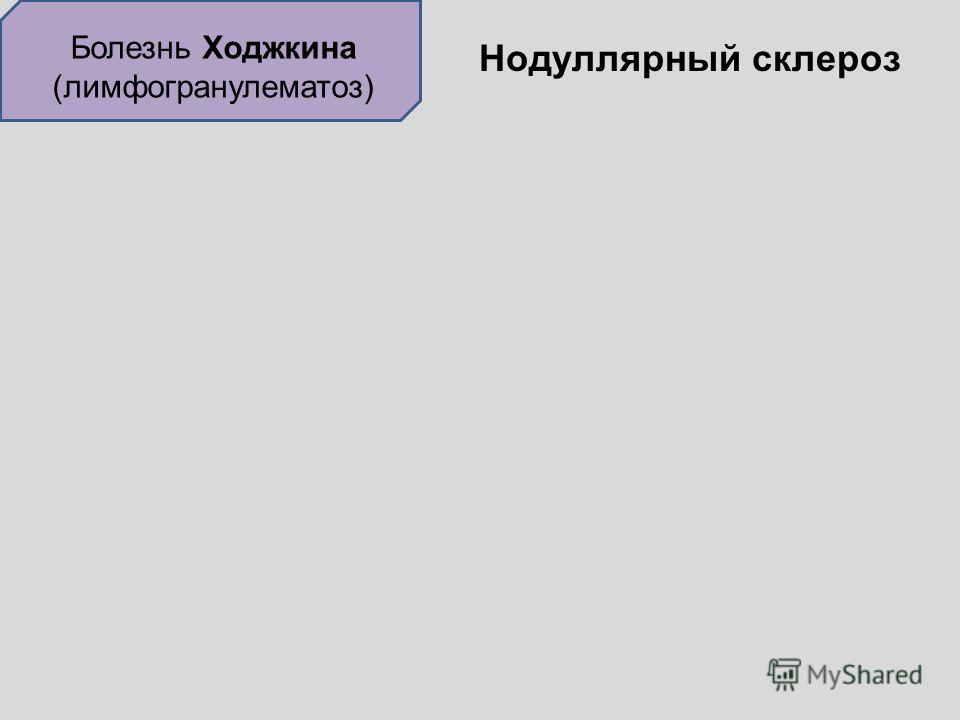 Болезнь Ходжкина (лимфогранулематоз) Нодуллярный склероз