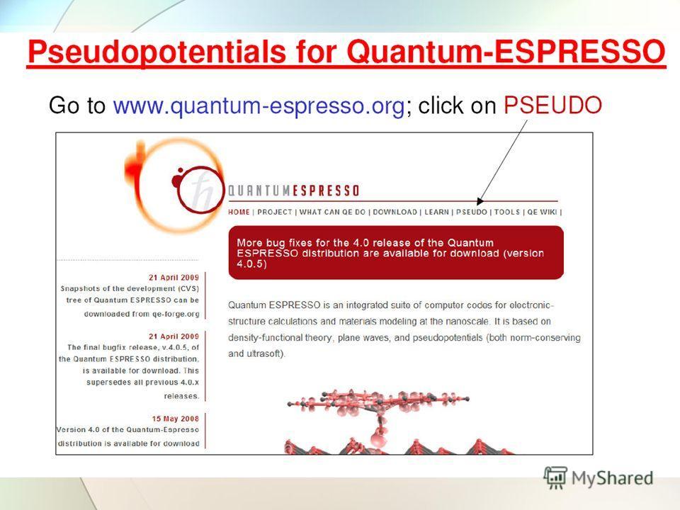 🎉 Quantum espresso software download | QUANTUM ESPRESSO: A