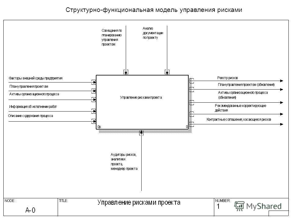 Структурно-функциональная модель управления рисками