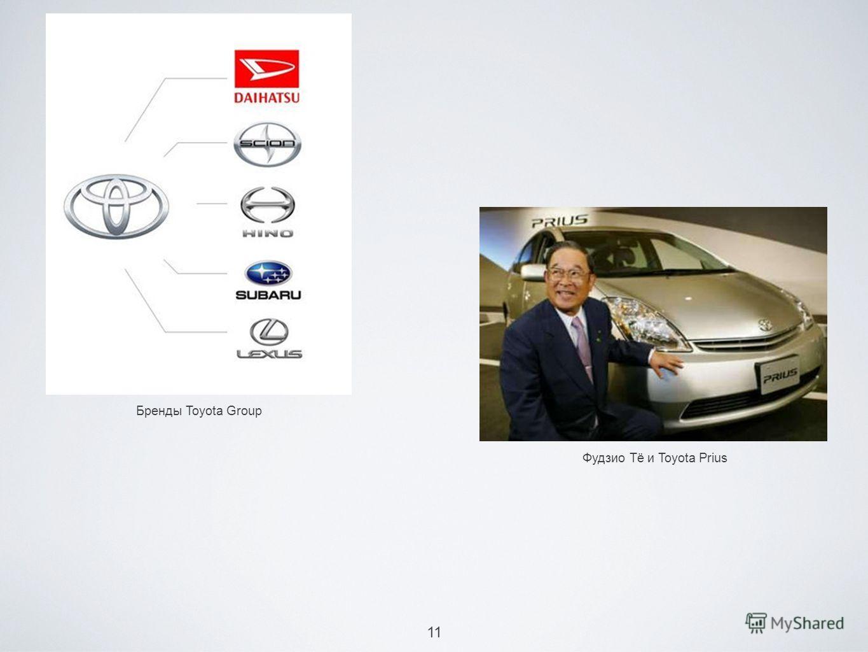11 Бренды Toyota Group Фудзио Тё и Toyota Prius