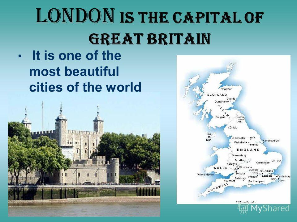 London is the capital of Great Britain It is one of the most beautiful cities of the world