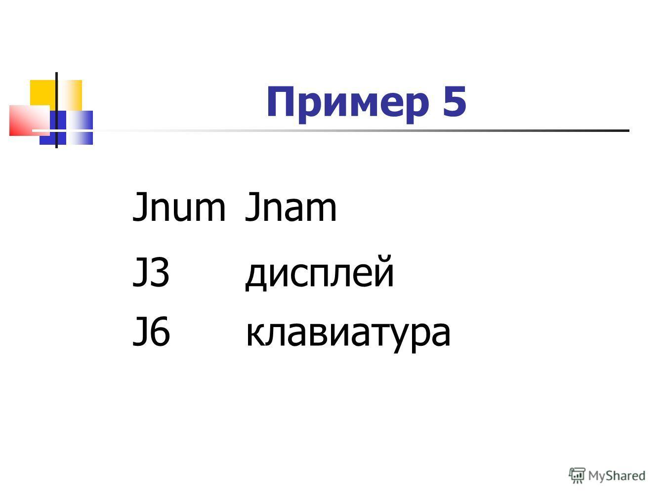 Пример 5 JnumJnam J3дисплей J6клавиатура