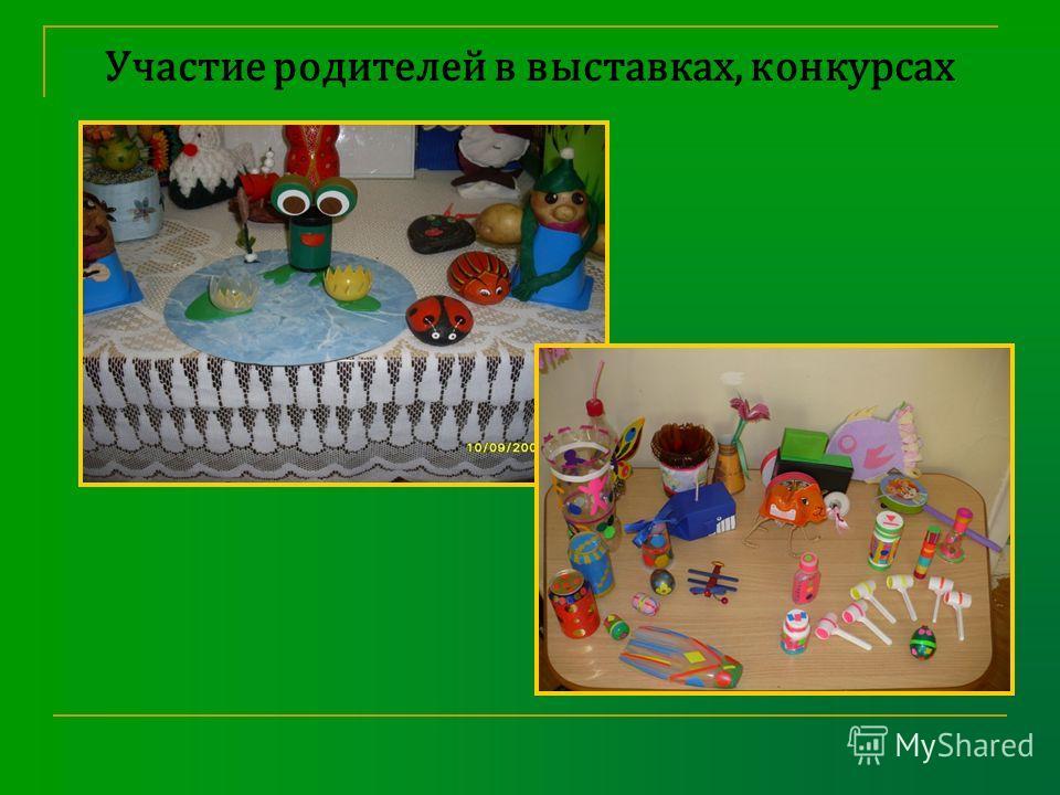 Участие родителей в выставках, конкурсах