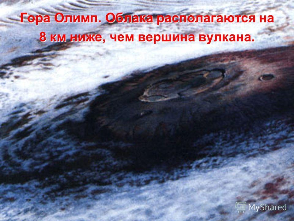 Гора Олимп. Облака располагаются на 8 км ниже, чем вершина вулкана.