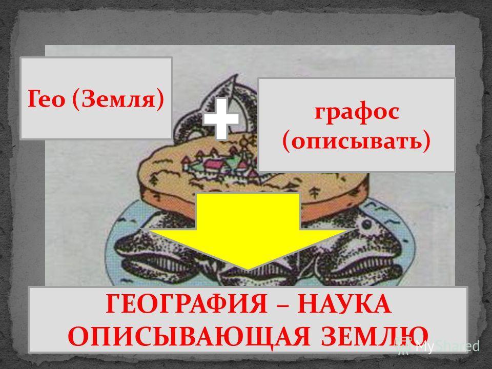 Гео (Земля) графос (описывать) ГЕОГРАФИЯ – НАУКА ОПИСЫВАЮЩАЯ ЗЕМЛЮ