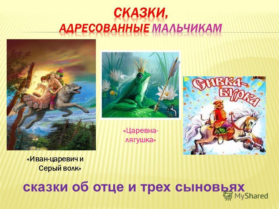 «Иван-царевич и Серый волк» «Царевна- лягушка» сказки об отце и трех сыновьях