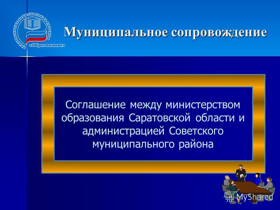 Муниципальное сопровождение Соглашение между министерством образования Саратовской области и администрацией Советского муниципального района