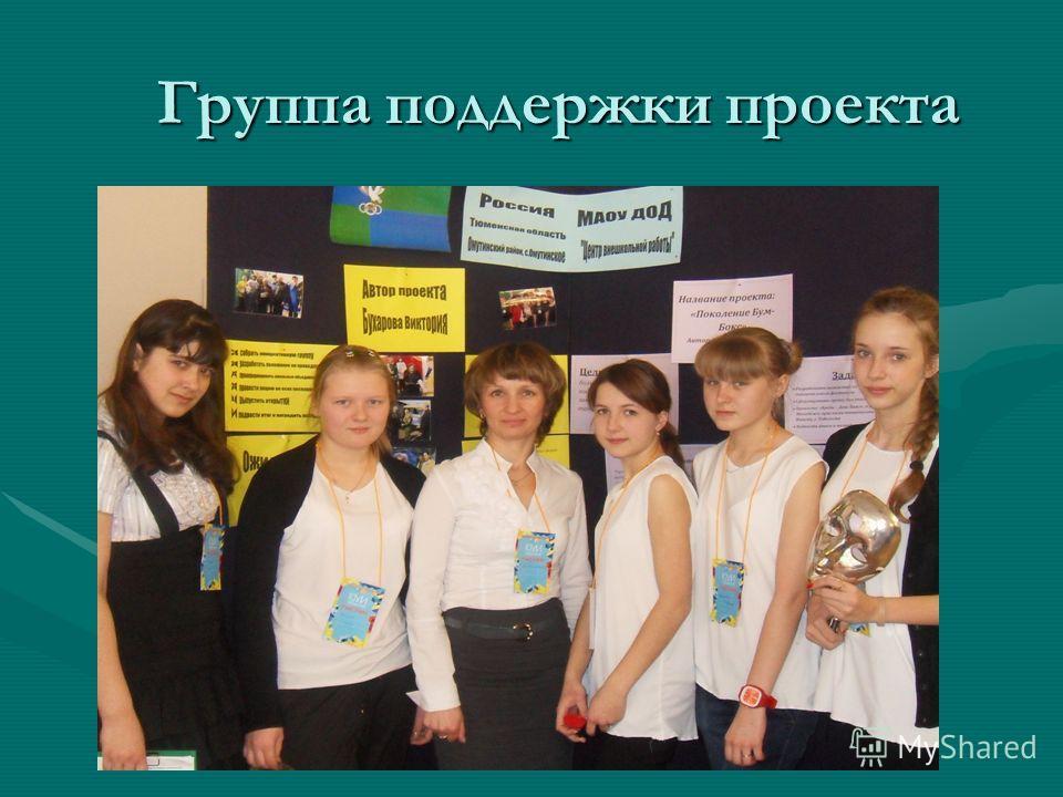 Группа поддержки проекта