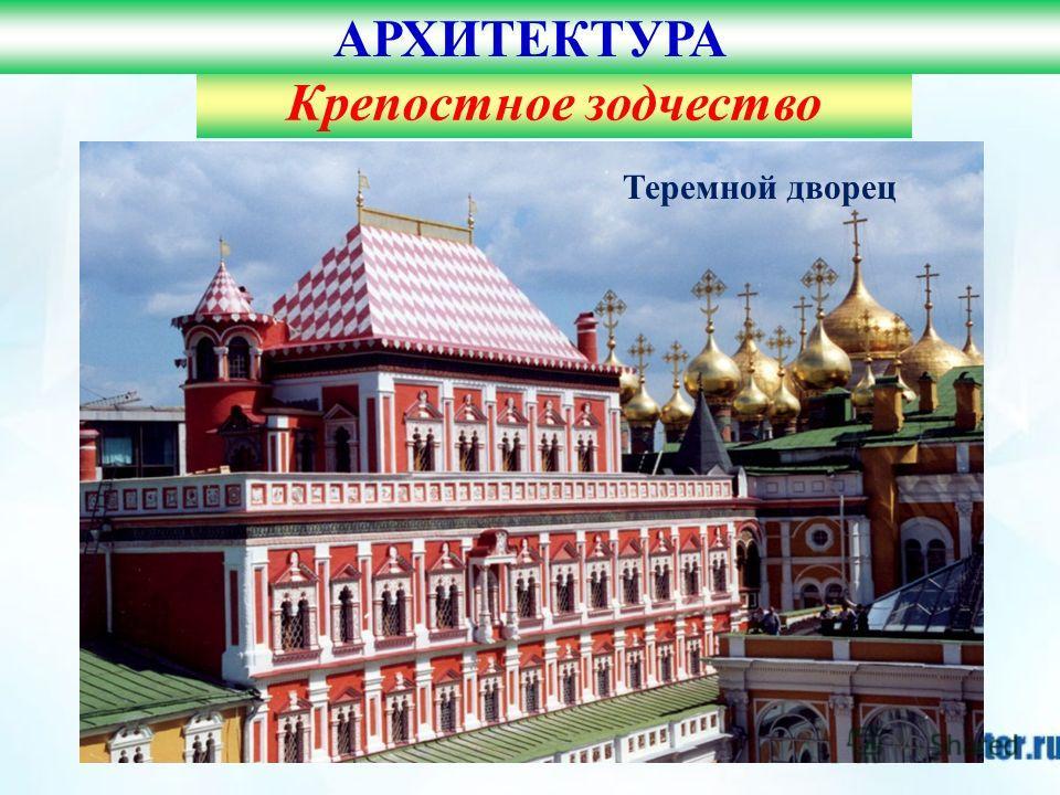 Московский кремль Крепостное зодчество АРХИТЕКТУРА Теремной дворец