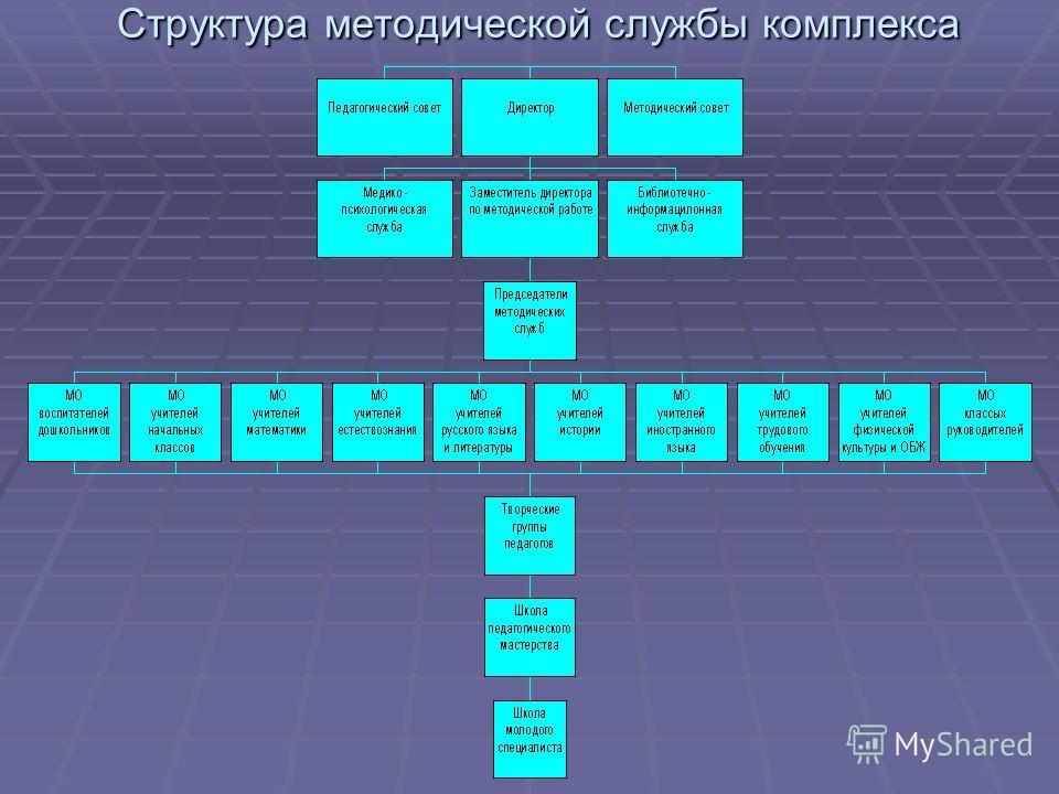 Структура методической службы комплекса Структура методической службы комплекса