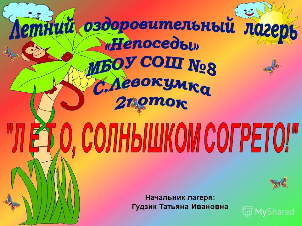 Начальник лагеря: Гудзик Татьяна Ивановна