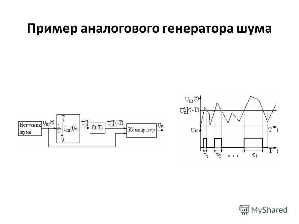 Пример аналогового генератора шума