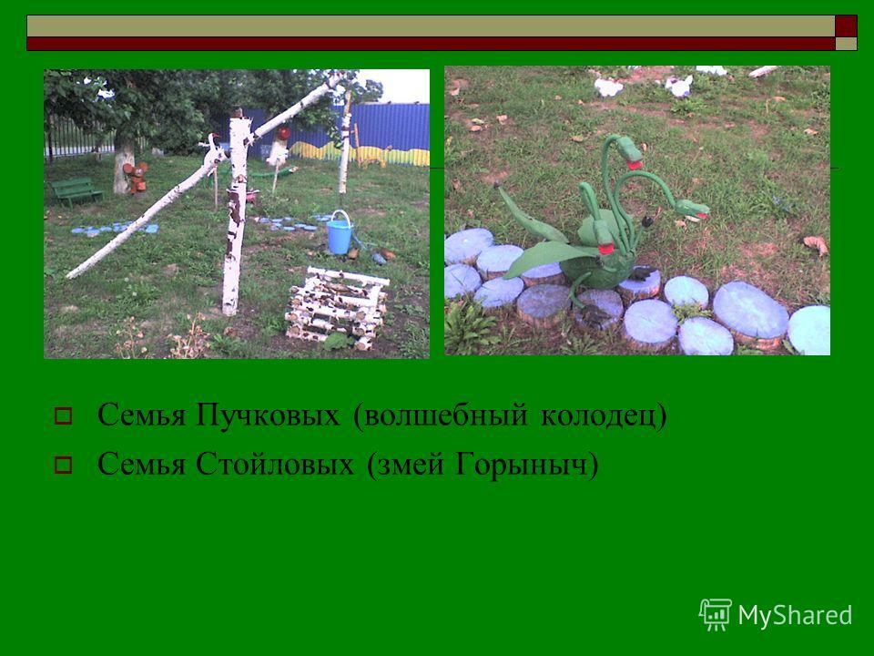 Семья Пучковых (волшебный колодец) Семья Стойловых (змей Горыныч)