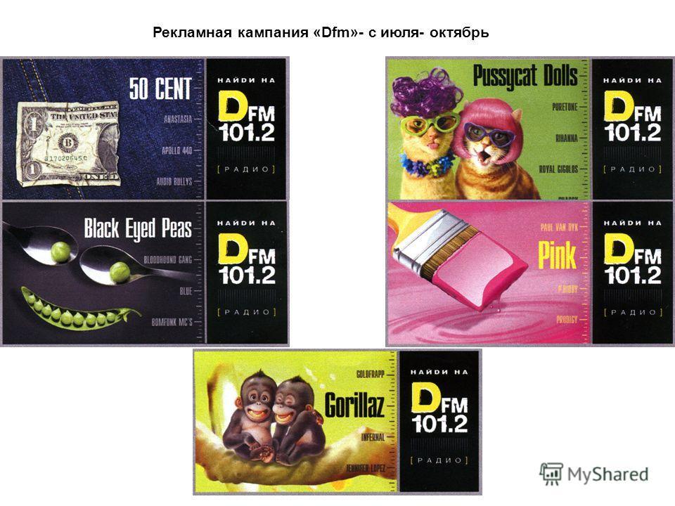 Рекламная кампания «Dfm»- с июля- октябрь