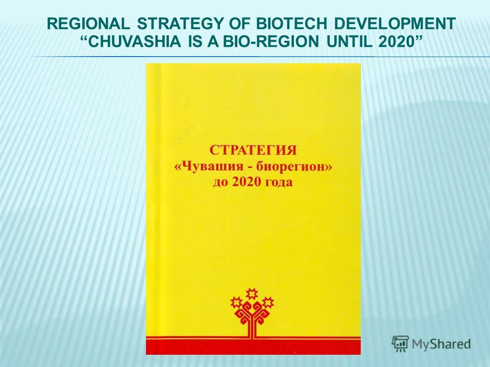 REGIONAL STRATEGY OF BIOTECH DEVELOPMENT CHUVASHIA IS A BIO-REGION UNTIL 2020