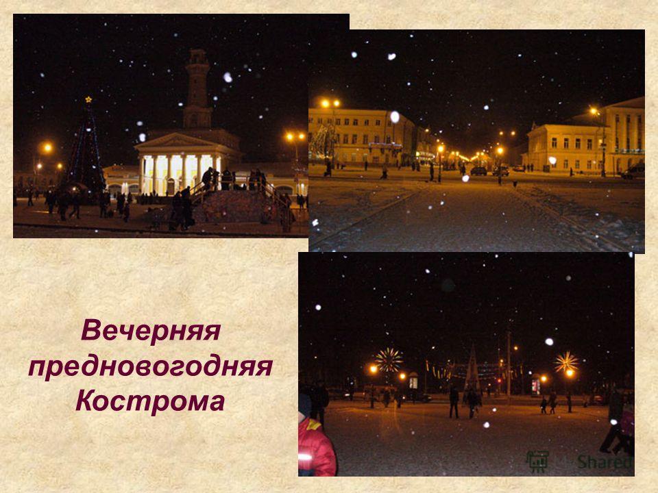 Вечерняя предновогодняя Кострома