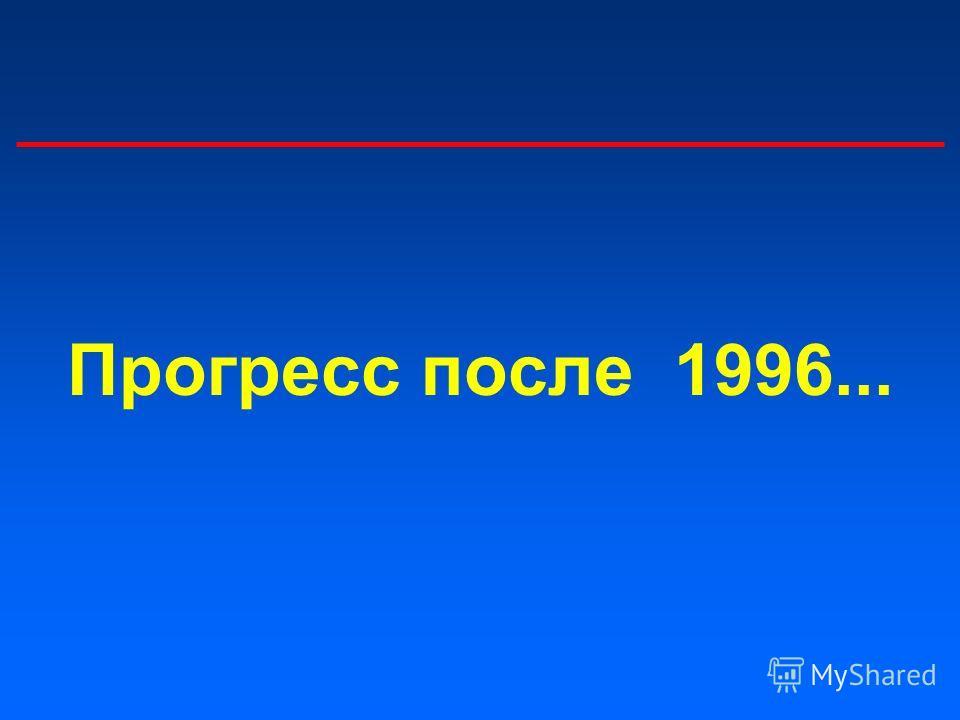 Прогресс после 1996...
