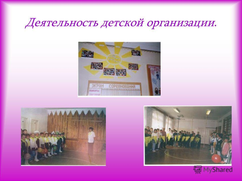 Деятельность детской организации.